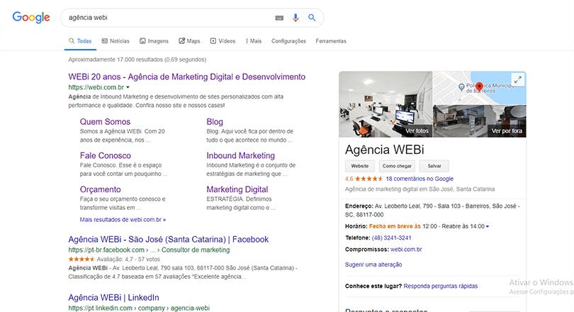 google meu negócio perfil